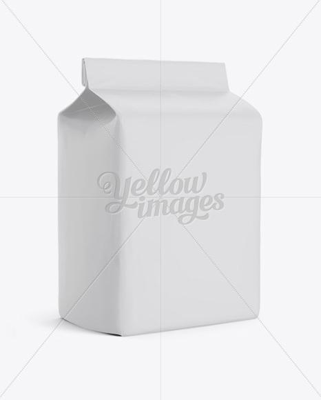Paper Flour Bag Mockup - Halfside View (Eye-Level Shot)