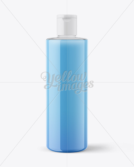 Clear Plastic Bottle With Liquid Mockup
