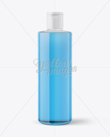 Clear Plastic Bottle With Transparent Liquid Mockup