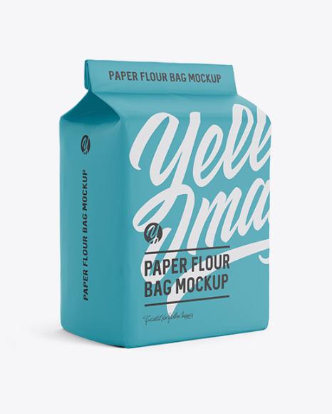 Download Matte Paper Flour Bag Mockup