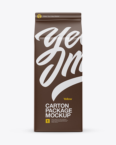 Download Carton Package Mockup - Front View Object Mockups