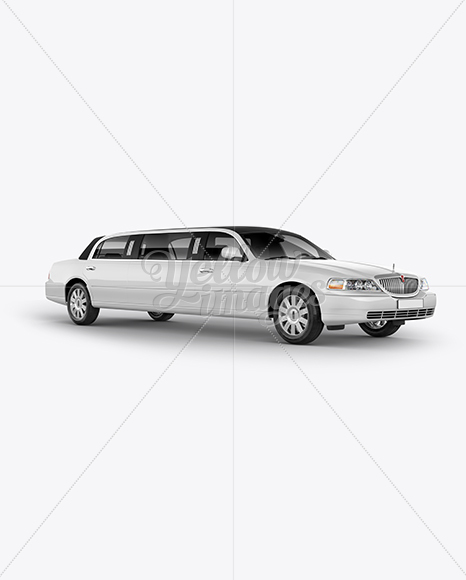 Lincoln Town Car Limousine Mockup Right Half Side View In Vehicle