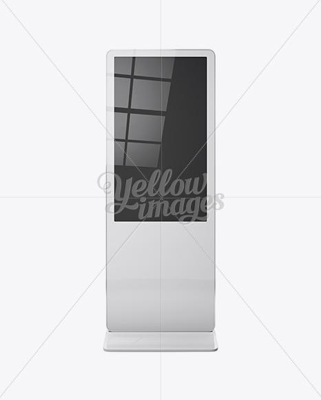 Digital LCD Display Mockup - Front View