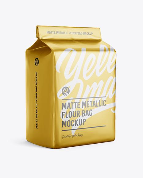 Matte Metallic Flour Bag Mockup