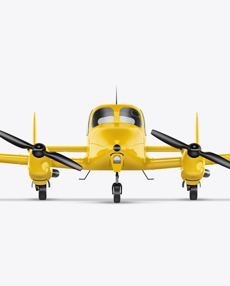 Sport Airplane Mockup - Front View