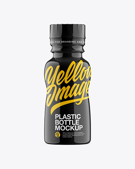 Download Free Bottle In Glossy Shrink Sleeve Mockup - Front View PSD Template