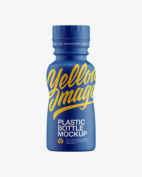 Bottle In Matte Shrink Sleeve Mockup - Front View