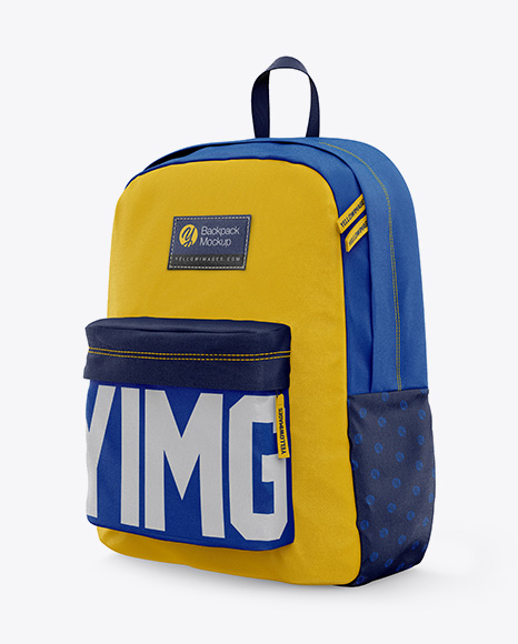 Backpack Mockup Half Side View In Apparel Mockups On Yellow
