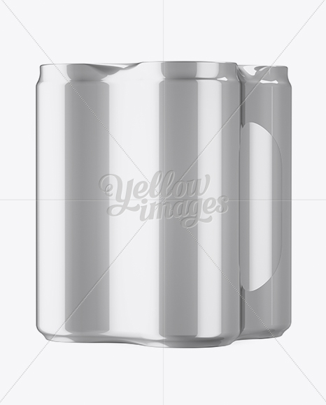 Download 4 Cans In Matte Metallic Shrink Wrap Mockup Half Side View High Angle Shot PSD - Free PSD Mockup Templates