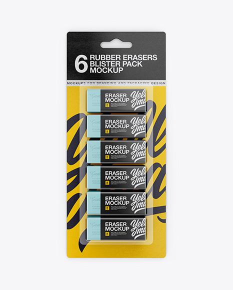 Download Erasers Blister Pack Mockup Object Mockups