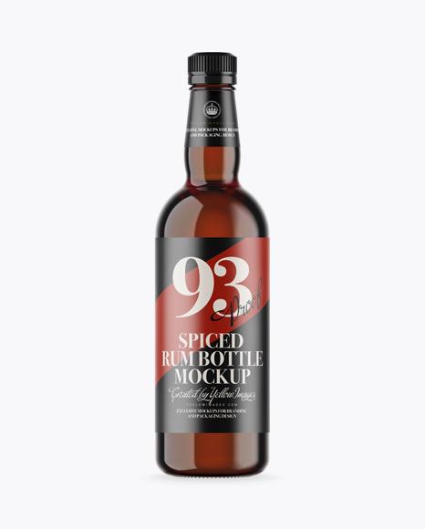 Download Amber Glass Rum Bottle Mockup Object Mockups