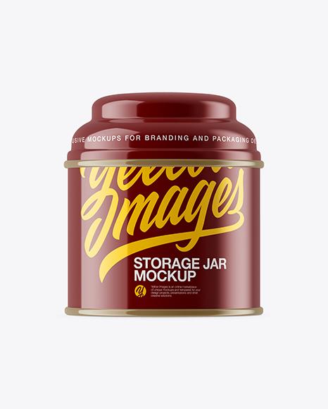 Download Free Glossy Storage Jar Mockup PSD Template