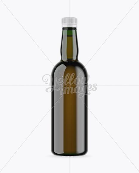 Green Glass Rum Bottle Mockup
