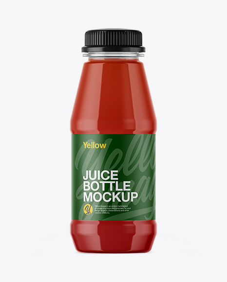 Plastic Bottle With Tomato Juice Mockup