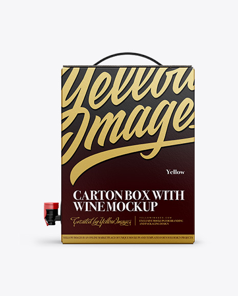 Carton Box with Wine Dispenser - Top, Front, Back Views