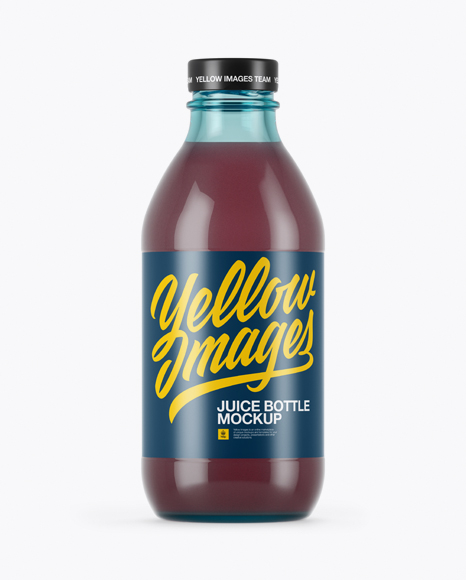 Download 330ml Blue Glass Berry Juice Bottle Mockup Object Mockups