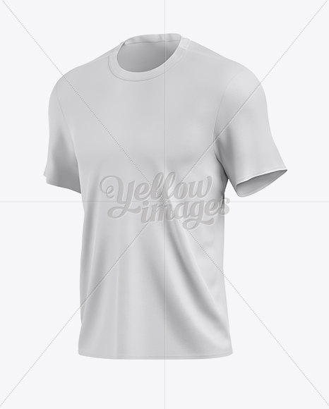 Download Men S T Shirt Mockup Half Side View In Apparel Mockups On Yellow Images Object Mockups PSD Mockup Templates
