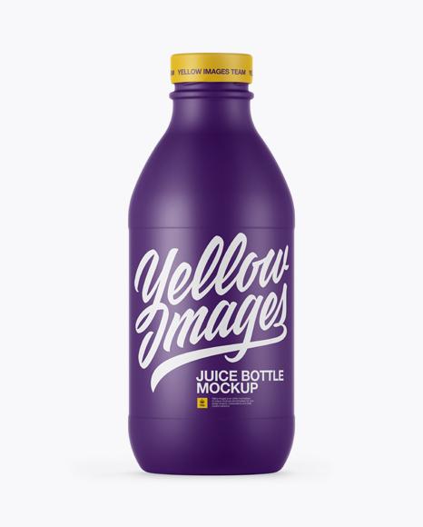 Download 330ml Matte Juice Bottle Mockup Object Mockups