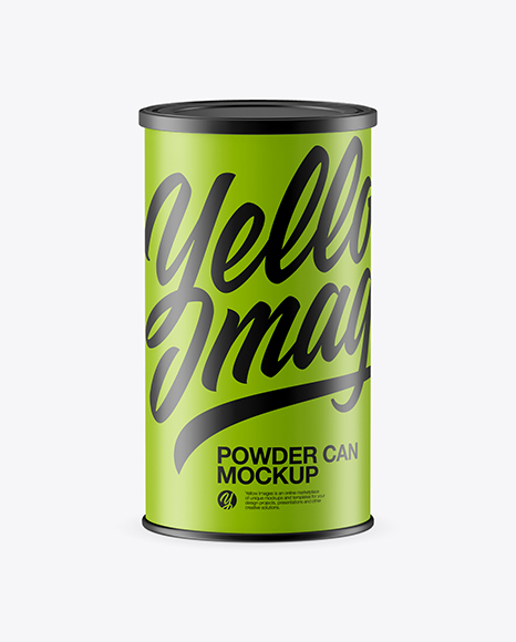 Matte Powder Can Mockup