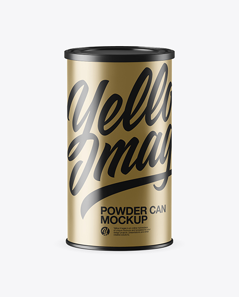 Metallic Powder Can Mockup