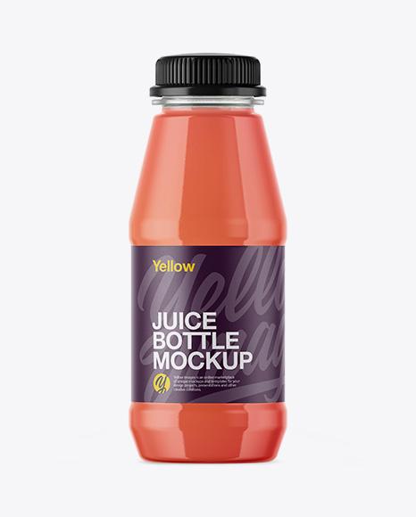 1l Plastic Juice Bottle Mockup