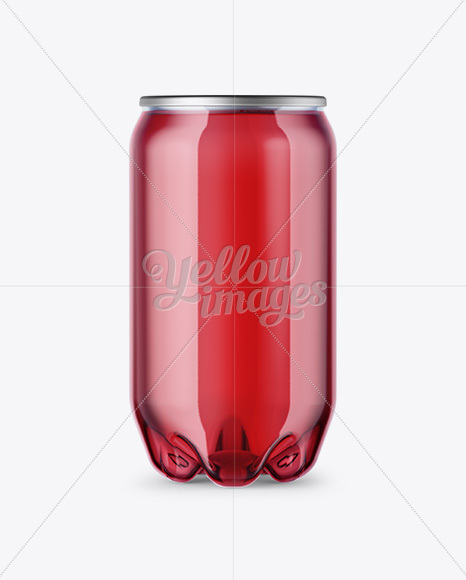 PET Can with Pink Drink Mockup
