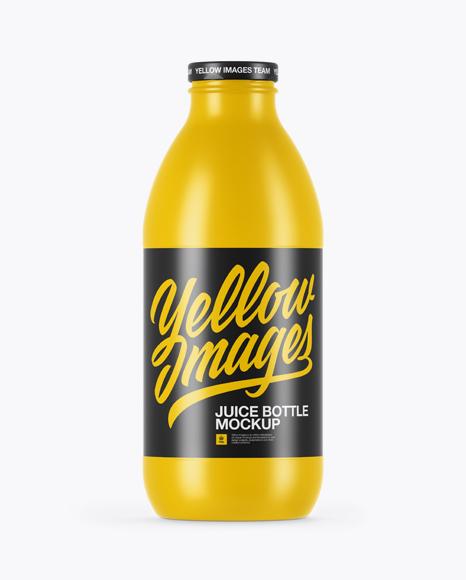 750ml Glossy Juice Bottle Mockup