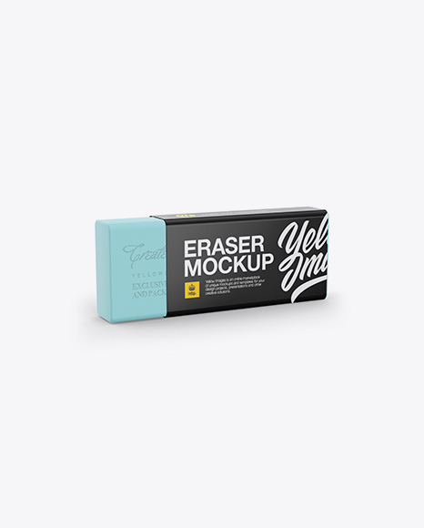 Download Free Eraser Mockup - Half Side View PSD Template