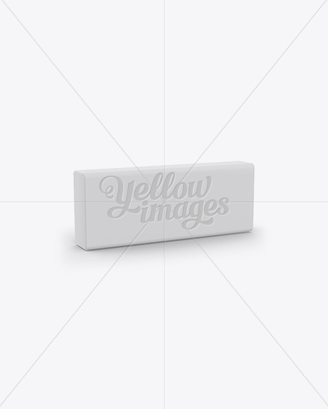 eraser mockup half side view in stationery mockups on yellow
