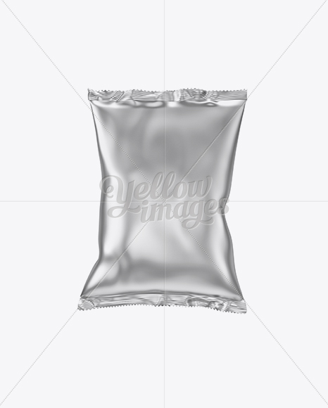 Download Metallic Snack Package Mockup Front View In Bag Sack Mockups On Yellow Images Object Mockups PSD Mockup Templates