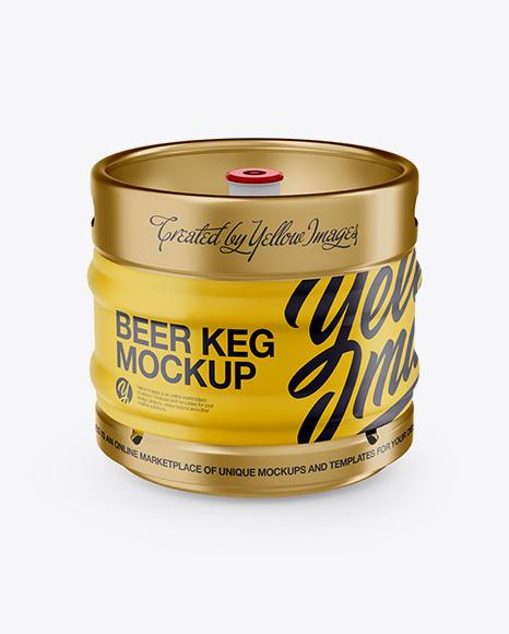 Download Free 30L Matte Beer Keg Mockup - Front View PSD Template