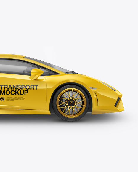 Download Free Lamborghini Gallardo Mockup - Side View PSD Template