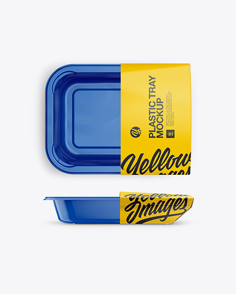 Download Plastic Container Mockup - Front, Top Views Object Mockups