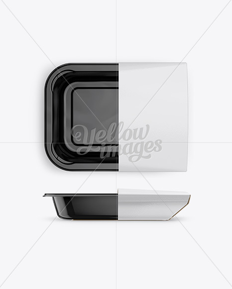 Plastic Container Mockup - Front, Top Views