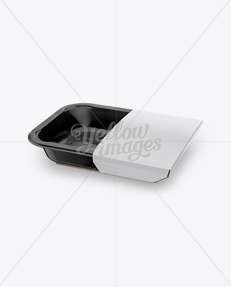 Plastic Container Mockup - Half Side View (High Angle Shot)