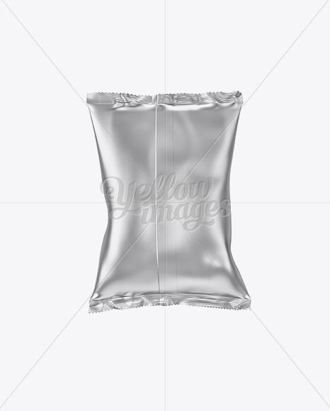 Metallic Snack Package Mockup - Back View