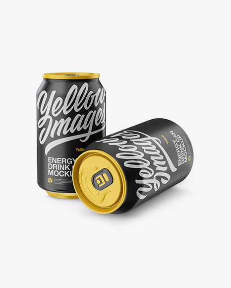 Download Two 330ml Matte Aluminium Cans Mockup Object Mockups