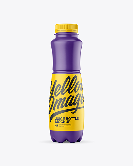 Matte Plastic Juice Bottle Mockup