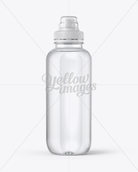 Download Clear Water Bottle With Sport Cap Mockup In Bottle Mockups On Yellow Images Object Mockups PSD Mockup Templates