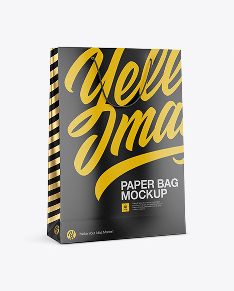 Download Free Matte Paper Bag Mockup - Half Side View PSD Template