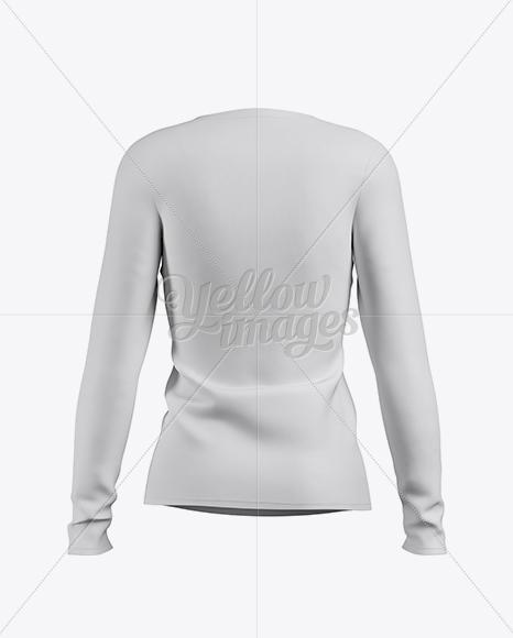 Download Women's Baseball T-shirt with Long Sleeves Mockup - Back View Jersey Mockups