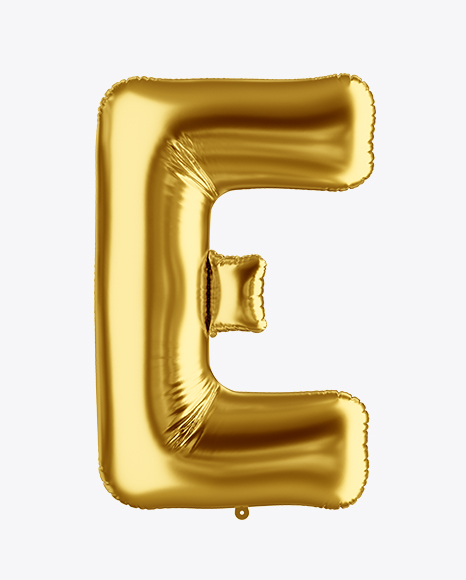 Download Free Letter E Foil Balloon Mockup PSD Template