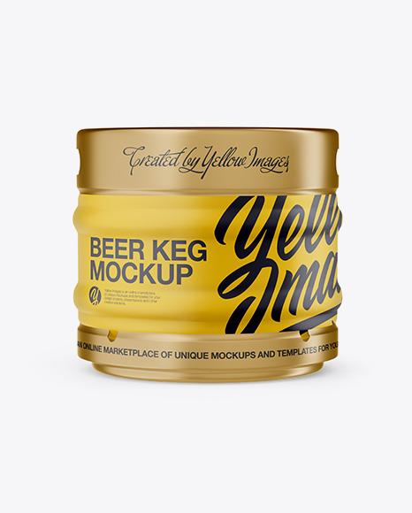 Download 30L Matte Beer Keg Mockup - Front View (Eye-Level Shot) Object Mockups