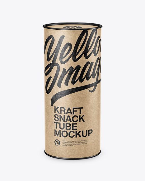 Kraft Paper Tube Mockup (High-Angle Shot)