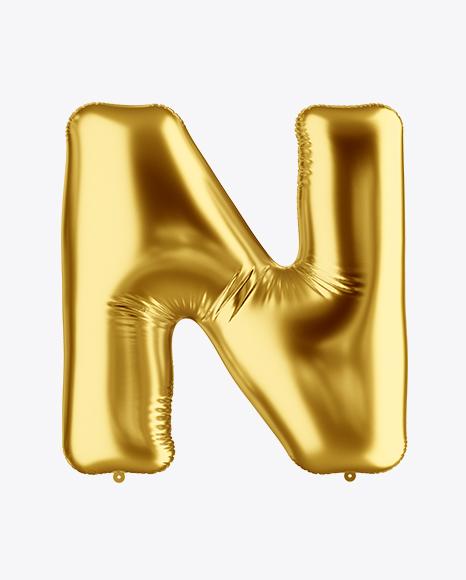 Download Letter N Foil Balloon Mockup Object Mockups