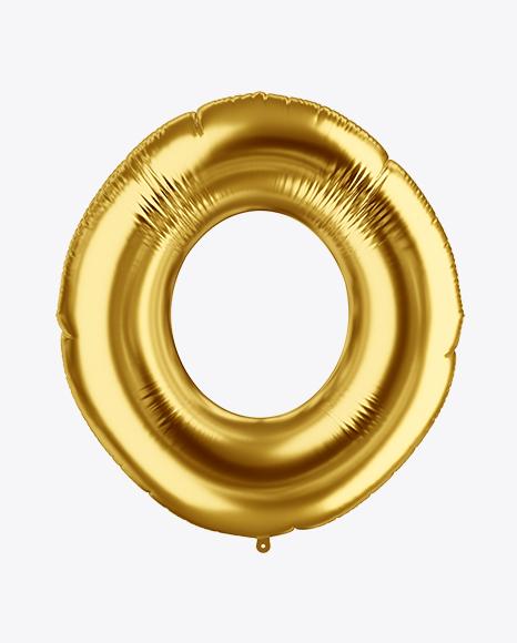 Download Letter O Foil Balloon Mockup Object Mockups