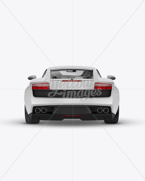 Lamborghini Gallardo Mockup Back View In Vehicle Mockups On Yellow