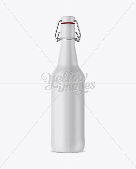 Matte Ceramic Beugel Bottle Mockup