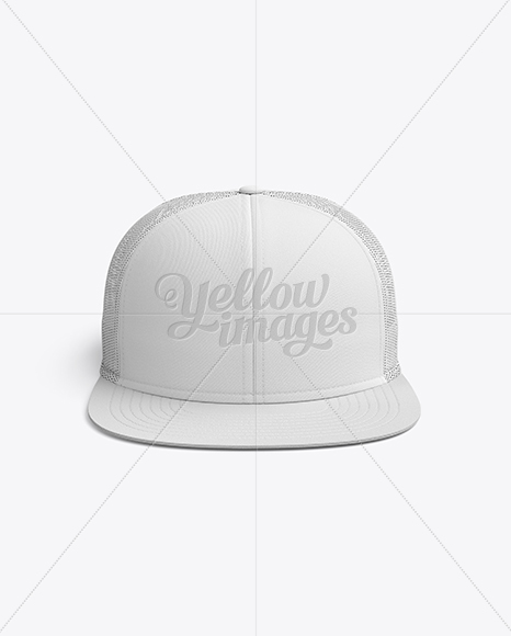 179116dcd Snapback Trucker Cap mockup (Front View) in Apparel Mockups on ...