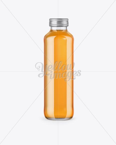 Download 330ml Clear Glass Orange Juice Bottle Mockup PSD - Free PSD Mockup Templates